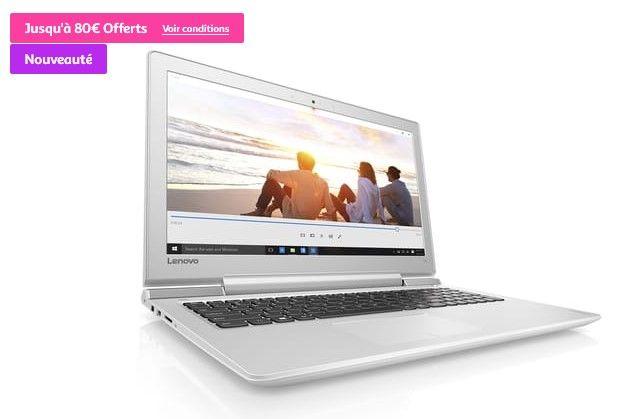 ... Ordinateur portable IdeaPad 700-15ISK Blanc LENOVO pas cher prix  Ordinateur portable Auchan Auchan 599.00 ... 92f1711d4644
