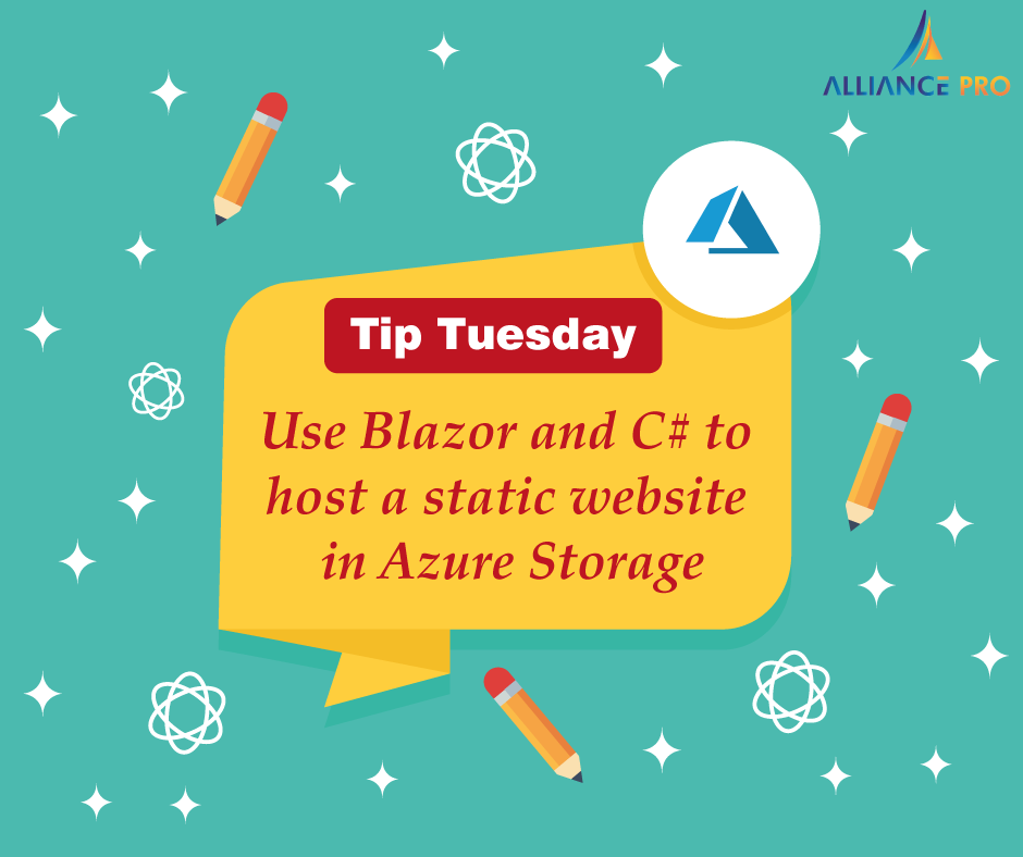 Tip Tuesday Use Blazor and C to host a static website in