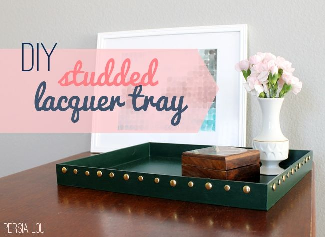 Acrylic Decorative Tray Diy Studded Lacquer Tray  Trays Acrylic Picture Frames And Upcycle