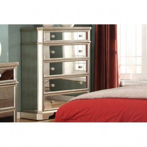 Mariano Furniture - Borghese 5 Drawer Chest - BMT1830-CHEST - Cheap Black Furniture
