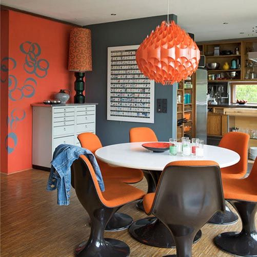 Lovely Retro Dining Room Decorating Ideas