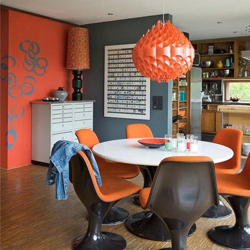 Lovely Retro Dining Room Decorating Ideas