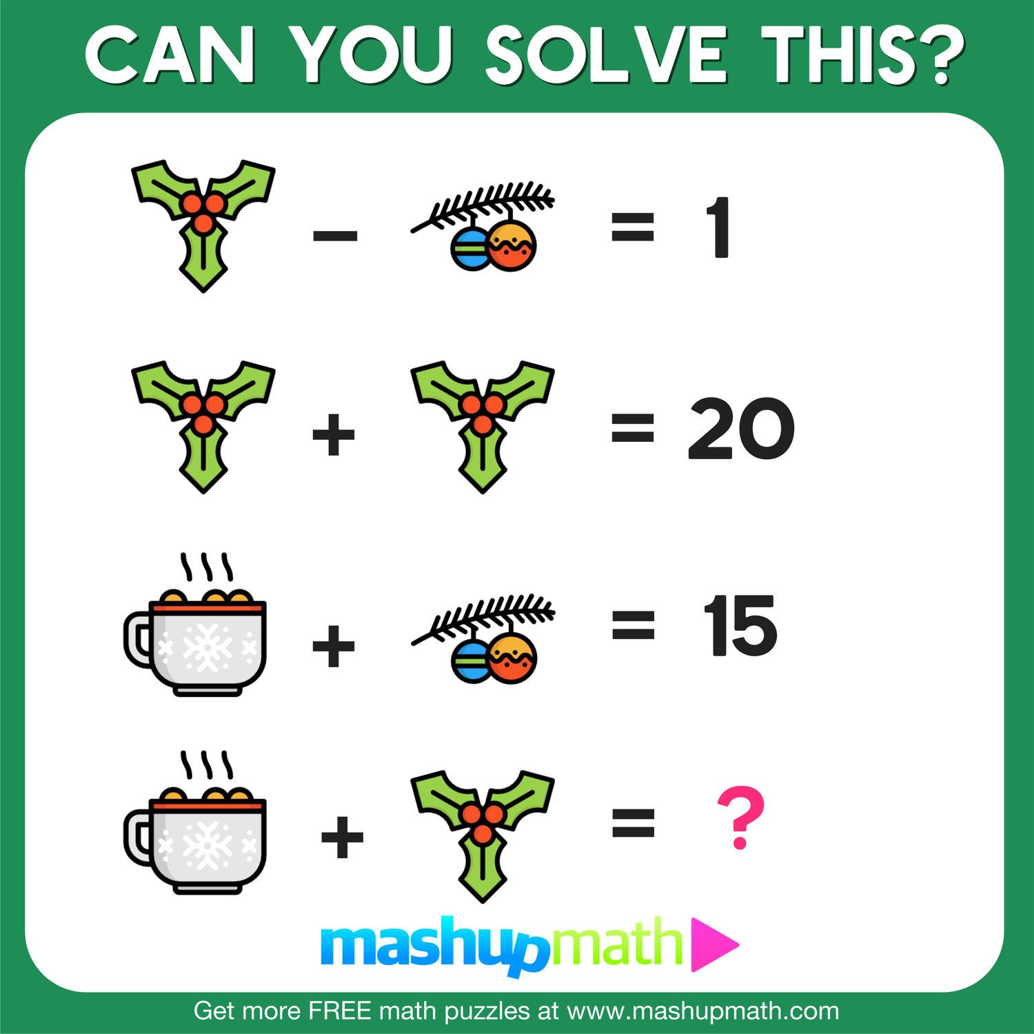 10 Free Christmas Math Activities For Your Kids