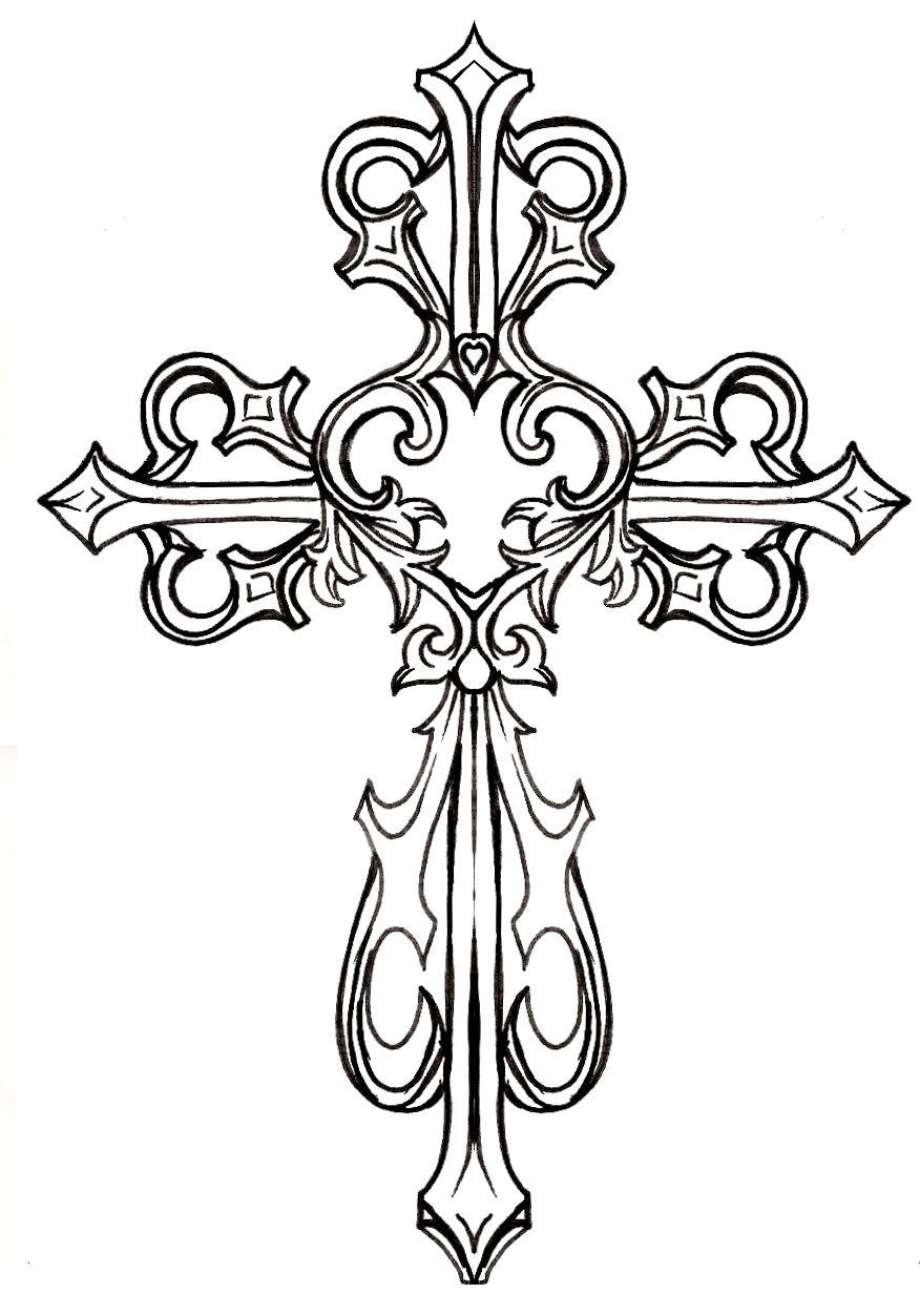 ornate cross clipart #1 graphics