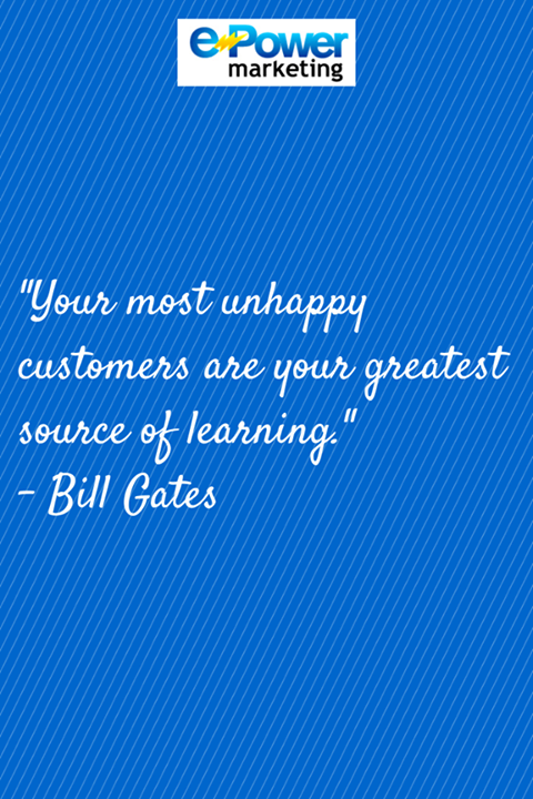 Marketing Quotes Marketing #quotes Bill Gates Customer Satisfaction  Marketing