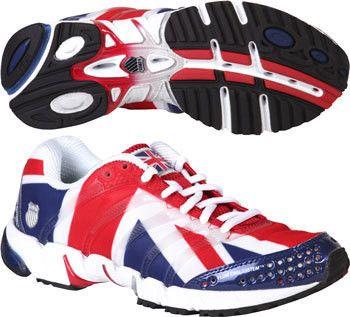 K-Swiss K-ona S Union Jack Flag Running Shoes 02225 899 - Polyvore