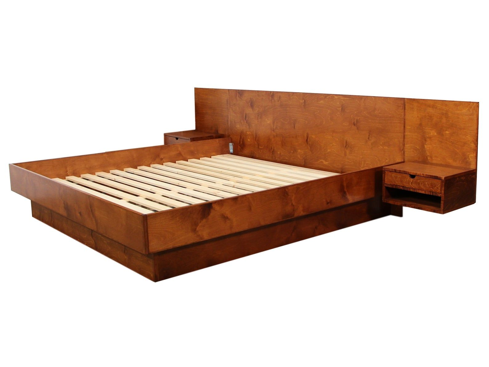 New Danish Inspired Custom King Size Platform Bed Etsy