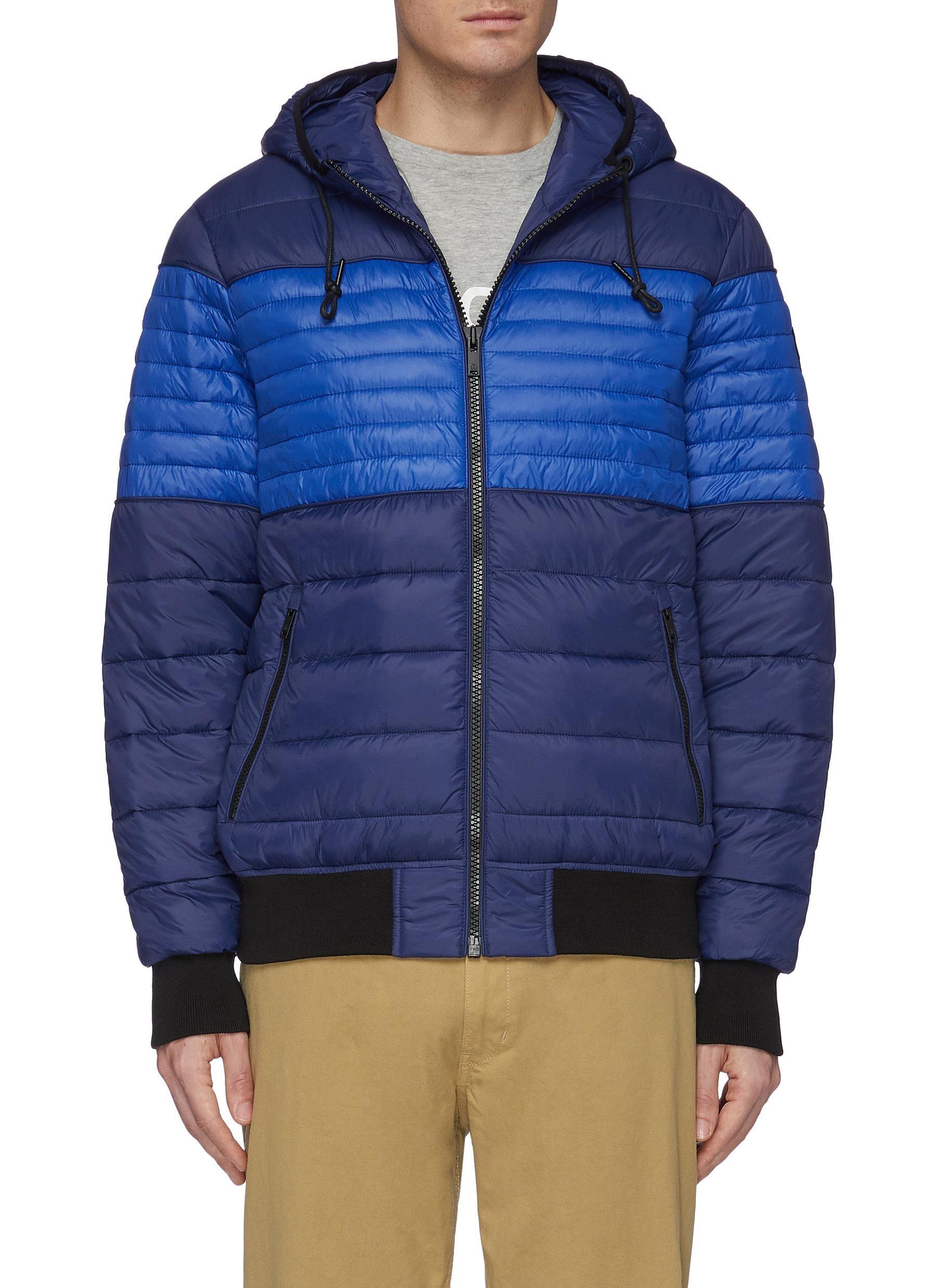 Moose Knuckles Terra Nova Hooded Puffer Jacket In Navy Cobalt Blue Modesens Puffer Jacket Style Puffer Jacket Men Puffer Jackets [ 2475 x 1800 Pixel ]