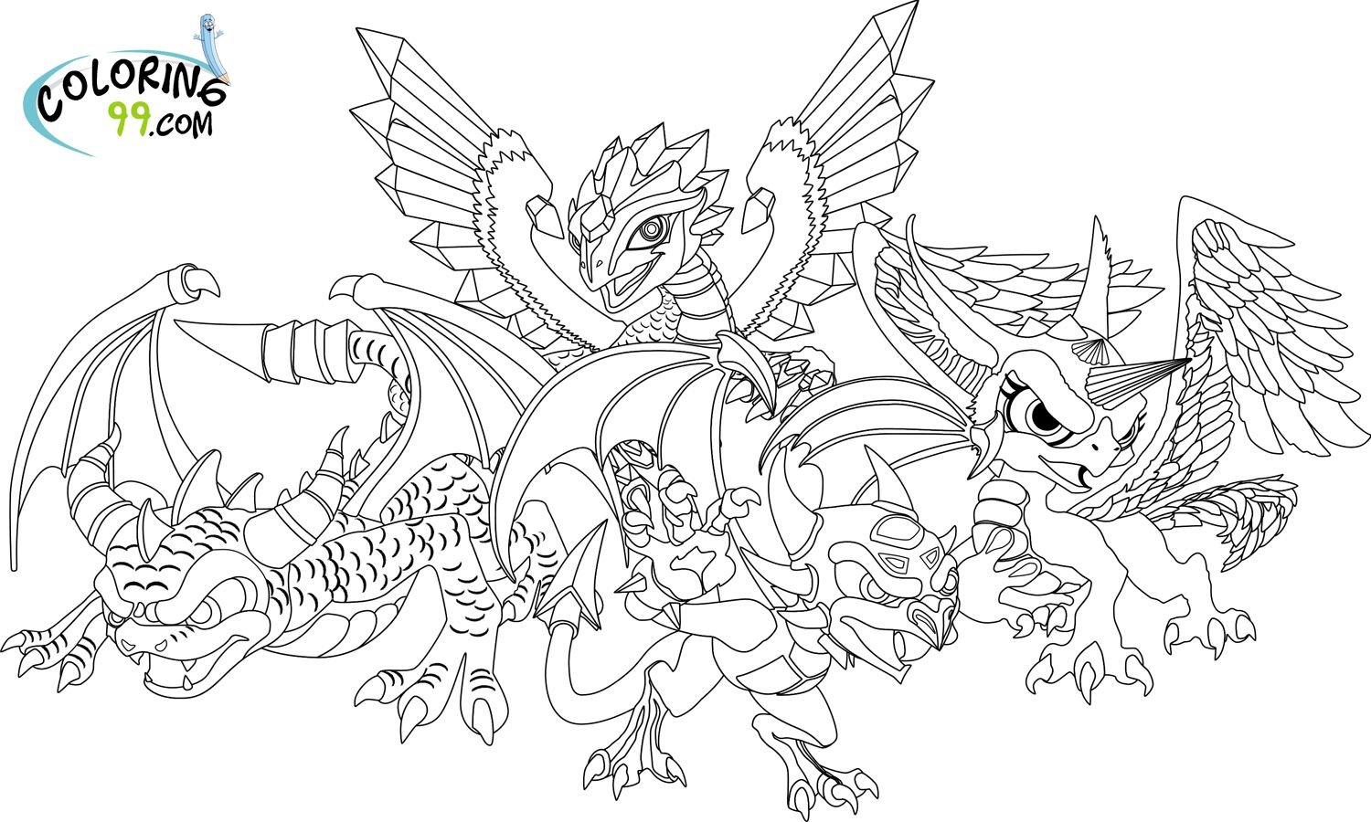 Skylanders Dragons Coloring Pages | Coloring99.com | COLORING ...
