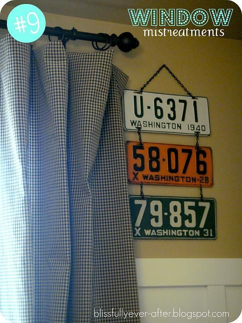 How to Display Old License Plates..this would be cool for our old KY license plates that we have held on to..yup..so doing something like this!