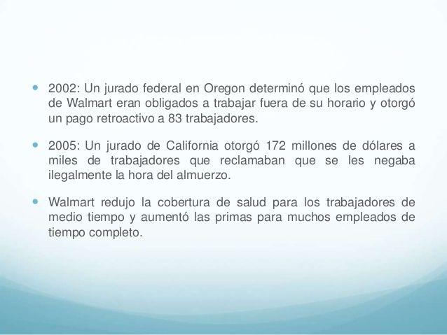 Las demandas laborales de walmart