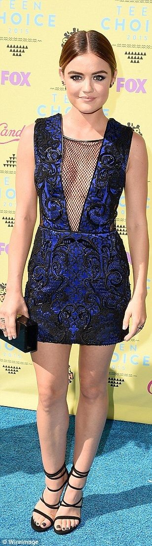 Star style: Bella Thorne, Zendaya and Lucy Hale lit up the red carpet at Sunday's 2015 Tee...