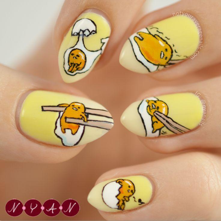 Gudetama Mochi♡ | ศิลปะเพ้นท์เล็บ | Pinterest | Mochi, Salon ...