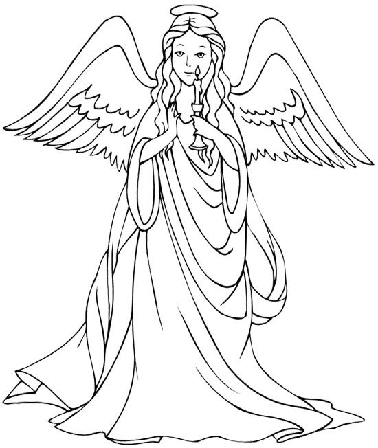 Beautiful Christmas Angel Coloring Page Jpg 550 652 Angel