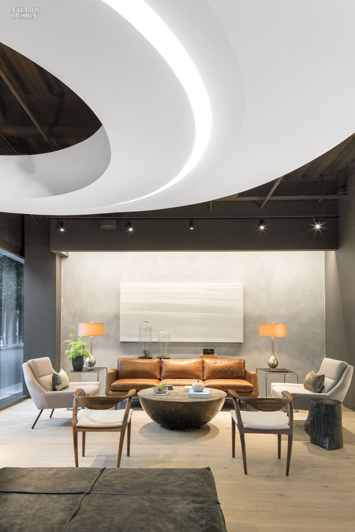 office lounge design. Douglas Elliman Makes A Grand Entrance Onto The L.A. Scene With Its Patrick Tighe-Designed Office Lounge Design