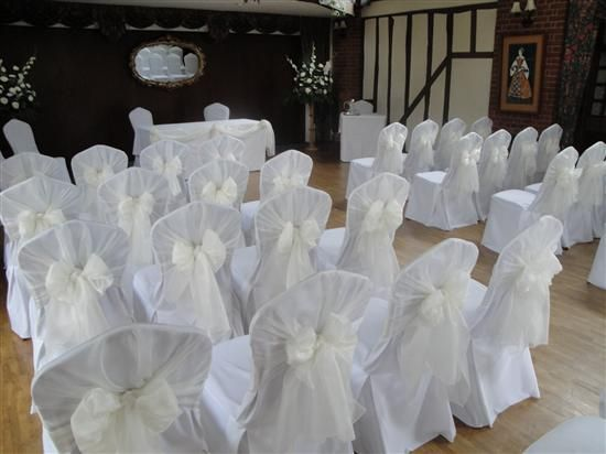 White Chair Covers With White Sash Fabulous Wedding Venues In