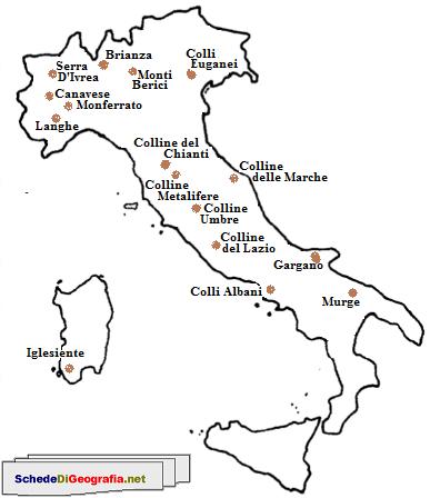 Cartina muta colline italiane tomveelers for Nomi dei politici italiani