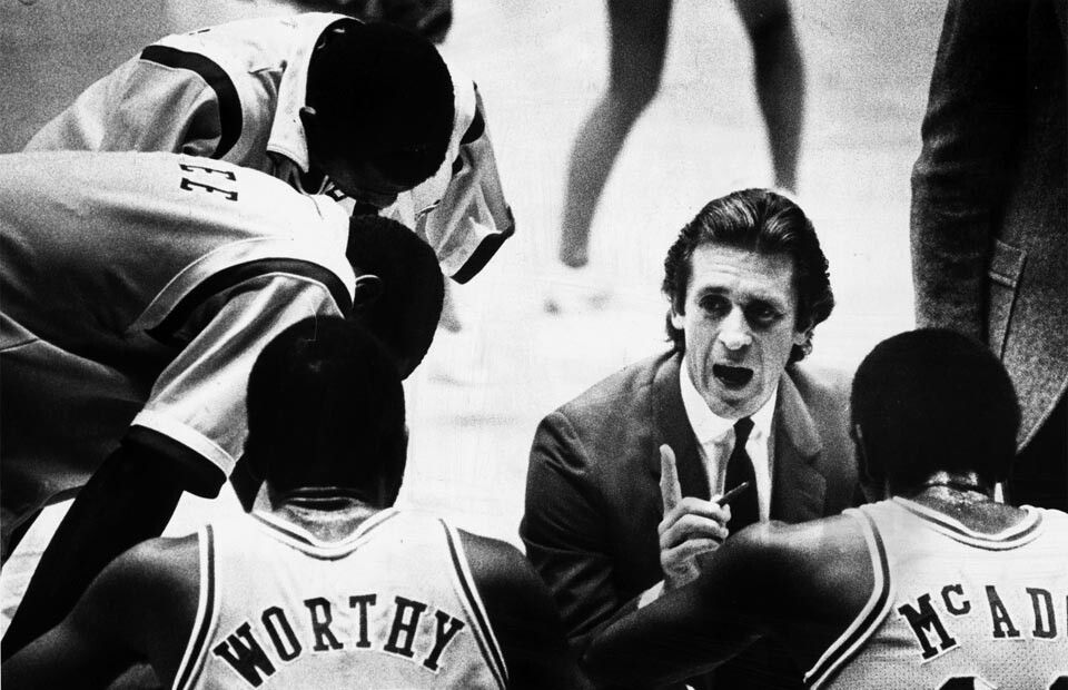 Coach Pat Riley James worthy, Showtime lakers, Pat riley
