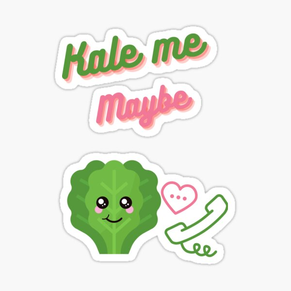 Kale me maybe funny cute food and vegetable valent