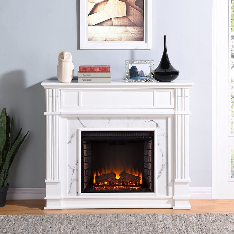 Boyer Electric Fireplace Electric Fireplace Home White