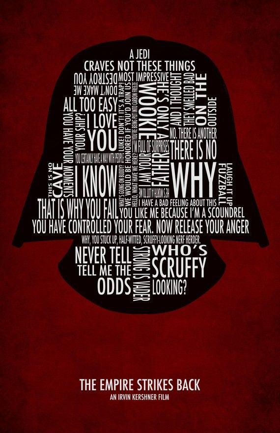 empire strikes back word art poster! love it!