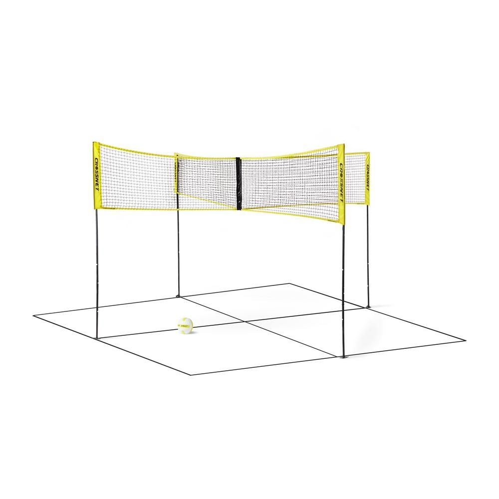 4 Square Volleyball Net And Game Set With Carrying Backpack And Ball Crossnet101 In 2020 Four Square Volleyball Net 4 Square Game