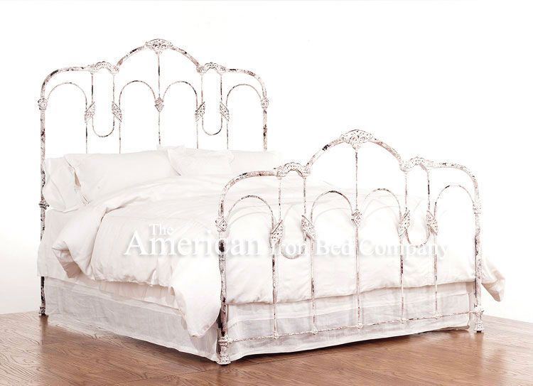 Best Aged White Metal Bed Frames Bayview Reproductions 400 x 300