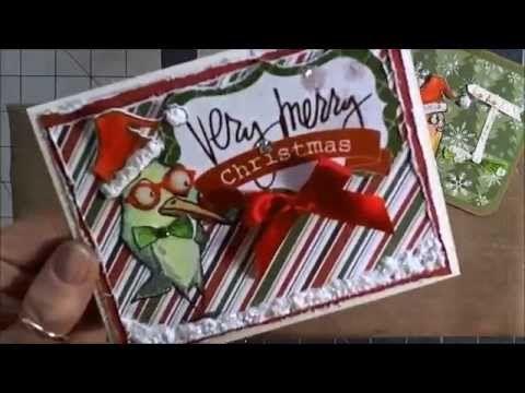Tim Holtz Bird Crazy Christmas Cards - YouTube