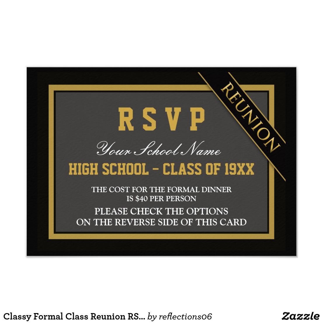 Classy Formal Class Reunion Rsvp