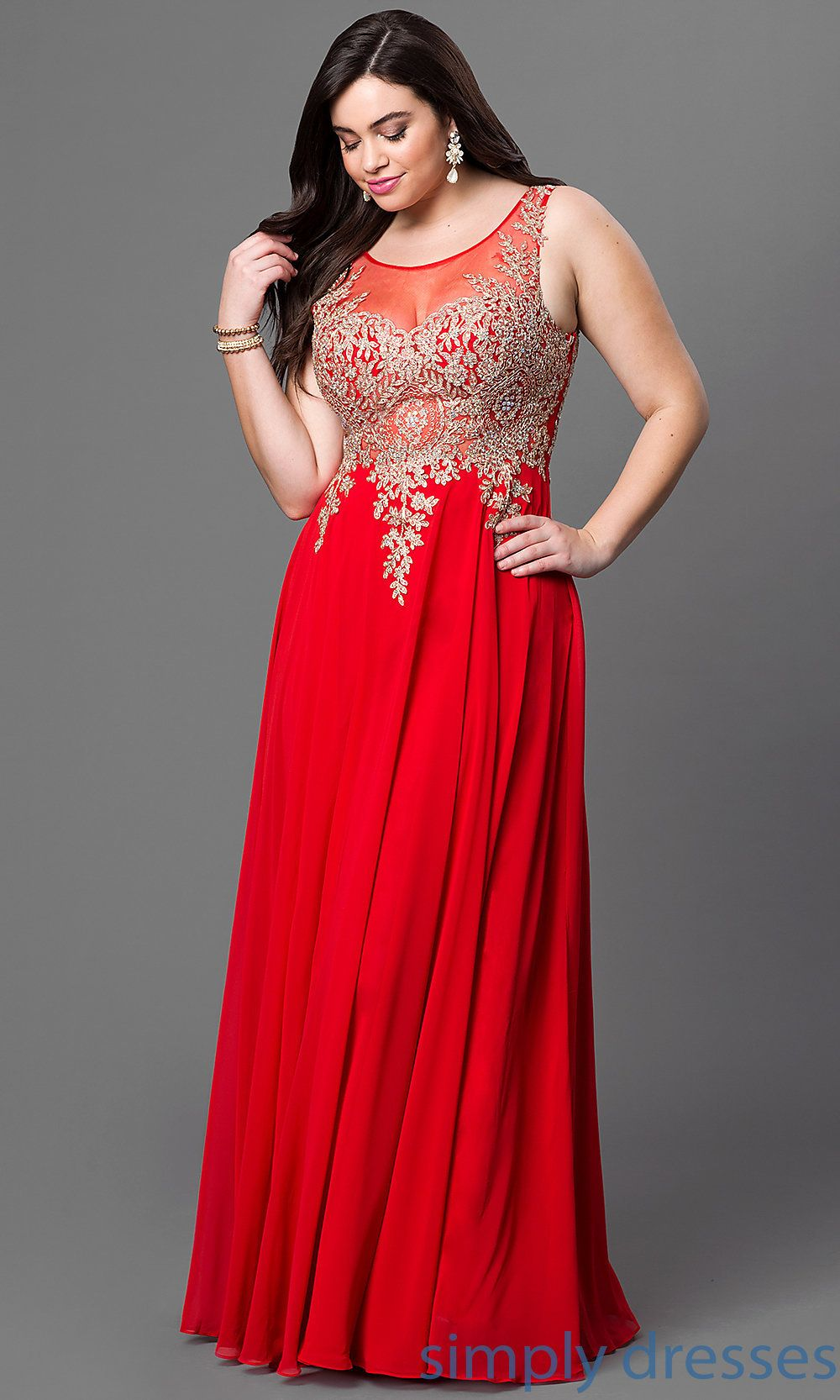 Plussize long formal prom dress with sheer back mob gowns