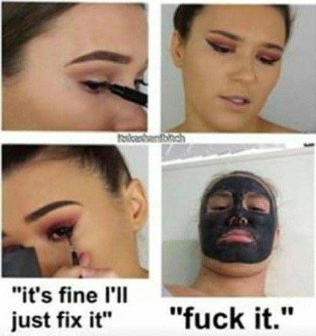 Znalezione obrazy dla zapytania eyeliner meme