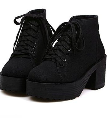 Casual style, lace up round toed booties. Heel height: 3cm100% VEGAN FRIENDLY.