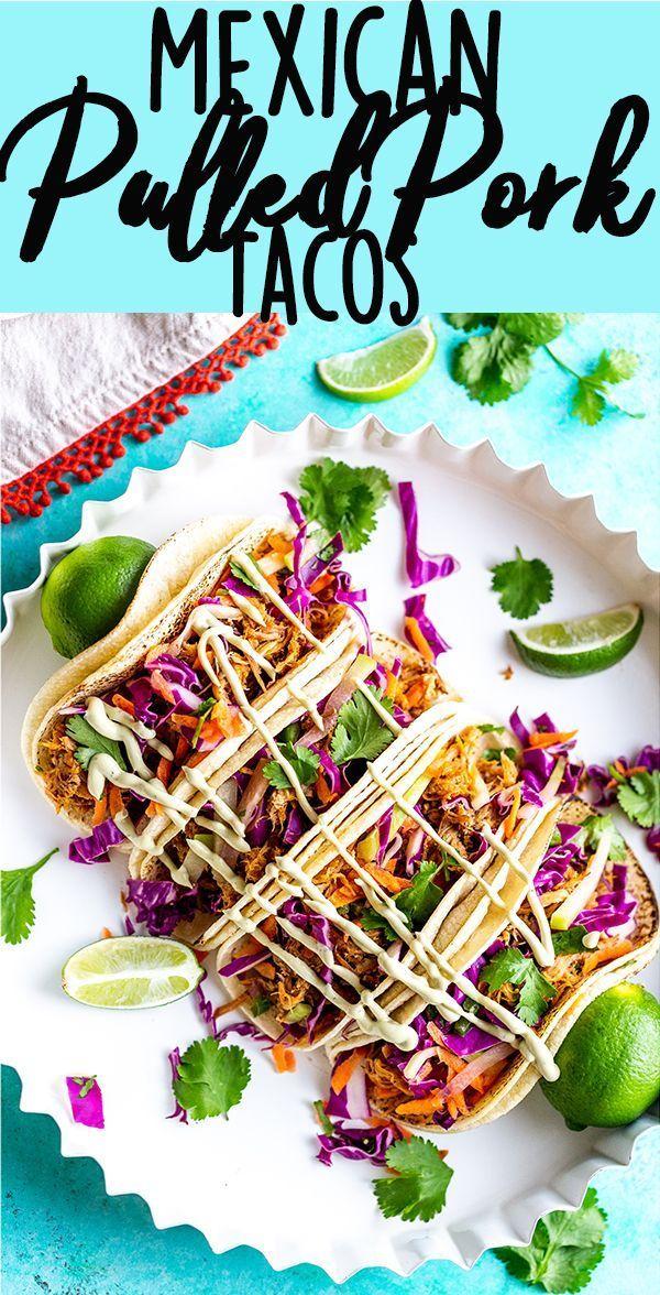 Mexican Pulled Pork Tacos #cilantrolimeslaw