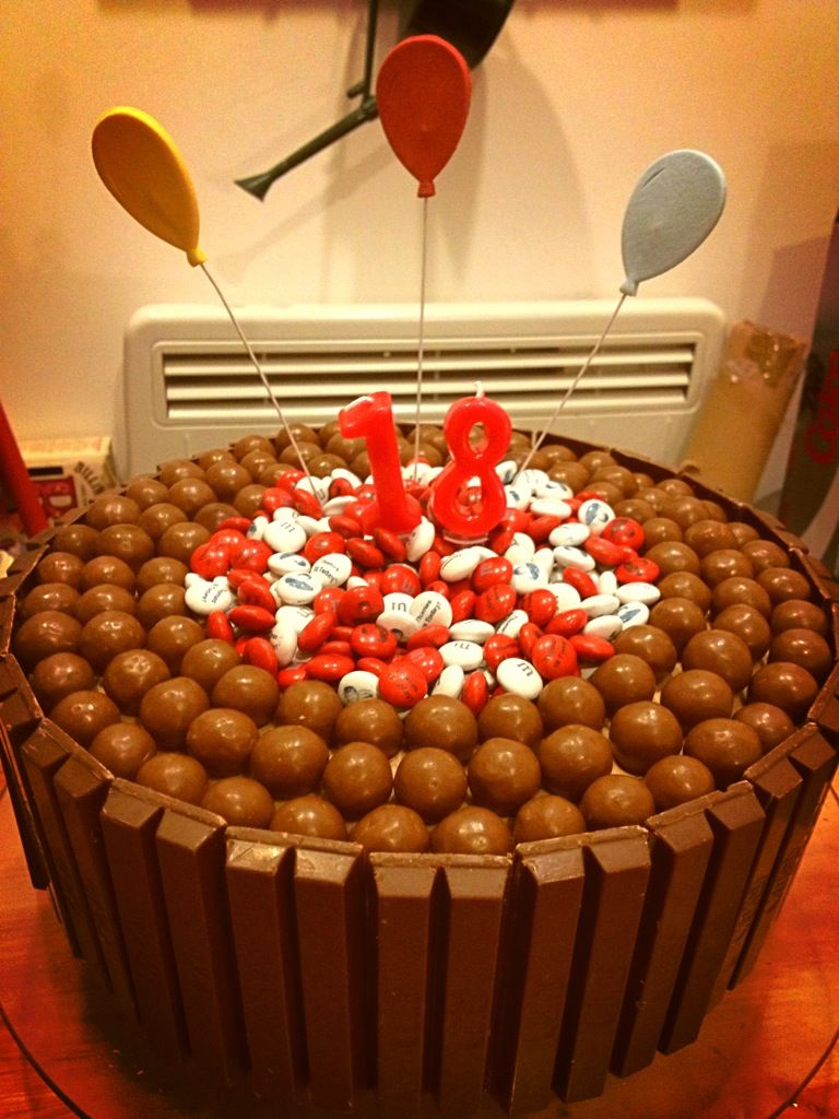 Pleasing 18Th Birthday Cake For The Biggest Chocolate Lover I Know Double Personalised Birthday Cards Veneteletsinfo