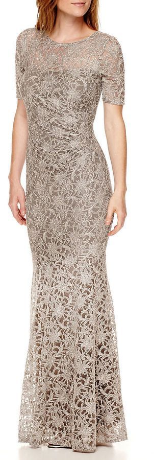 7dec24506f0 Decoded One By Eight Short-Sleeve Lace Formal Gown at JCPenney   affiliatelink