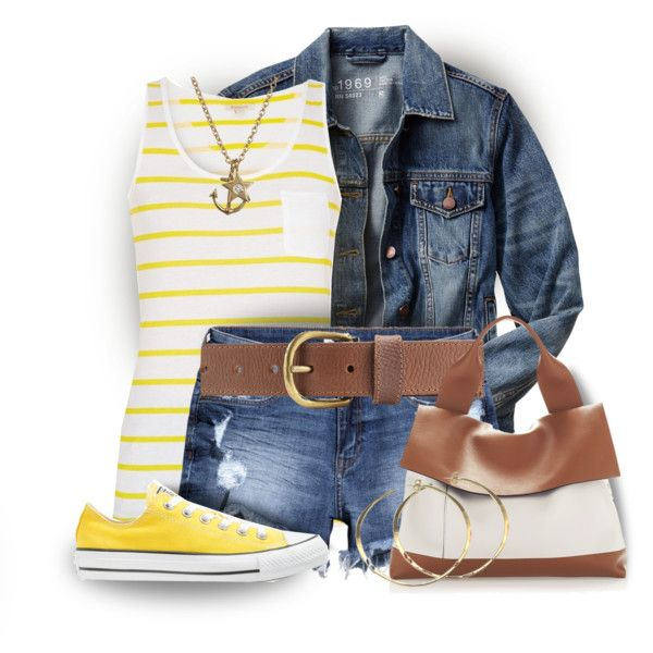 Yellow Converse by colierollers on Polyvore featuring Gap, Barbour, H&M, Converse, Marni, Rebecca Norman, Minor Obsessions and M&S