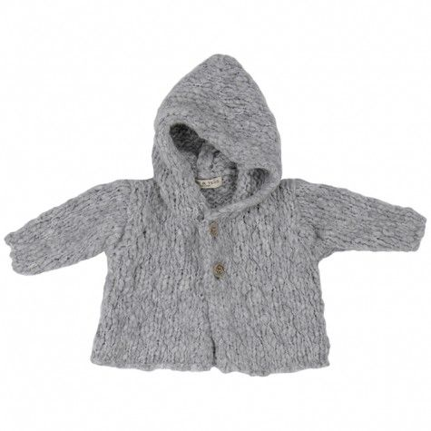 Babe + Tess: baby cardigan in pearl... It looks like such a soft and cuddly sweater <3