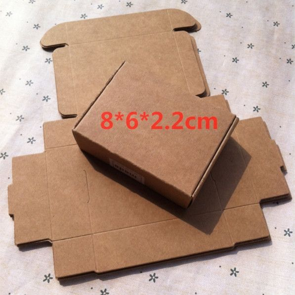 a6895abd15e 100pcs lot Ecofriendly Kraft Paper Packaging Box Soap Box Wedding  Decoration Gift Decorating Box 8 6 2.2cm-in Gift Bags   Wrapping Supplies  from Home ...