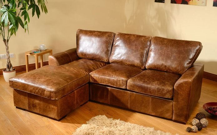 Room Ideas · Seattle Aniline Leather Corner Sofa ...