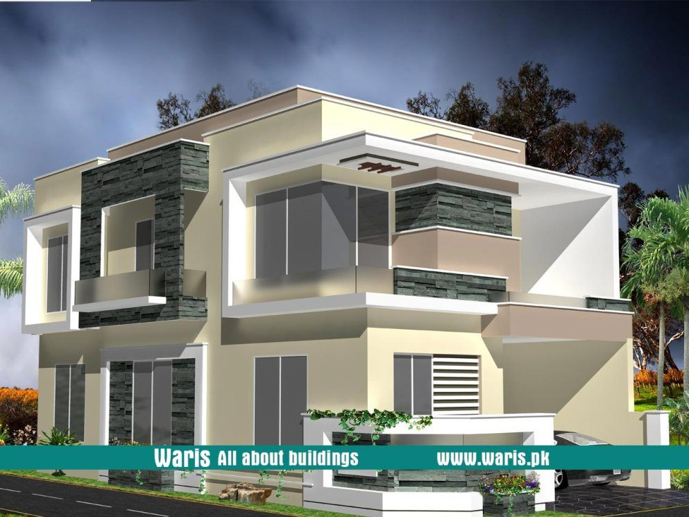 Waris 5 Marla House 3d View Elevation 25x50 In Dc Colony Gujranwala Pakistan House Designs Exterior House Front Design Small House Elevation Design
