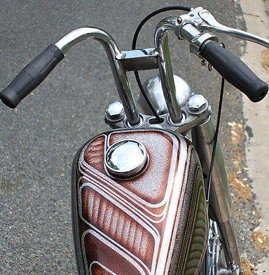 New Harley rabbit Buckhorn Drag bar handlebars chopper bobber Rabbit Ear Chrome