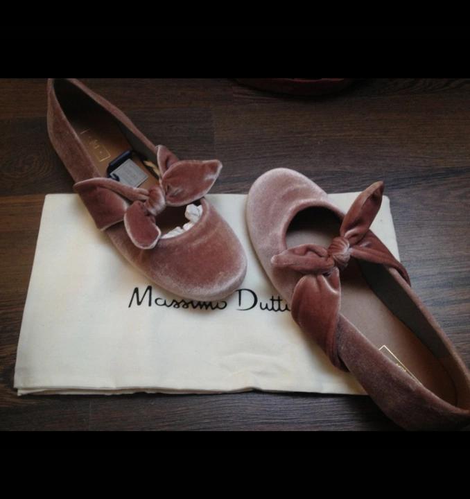 Baleriny Z Aksamitu Massimo Dutti Balerinki 8293755218 Oficjalne Archiwum Allegro Ribbon Slides Sandals Ribbon