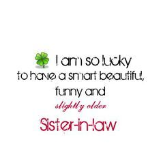 cute sister in law quotes