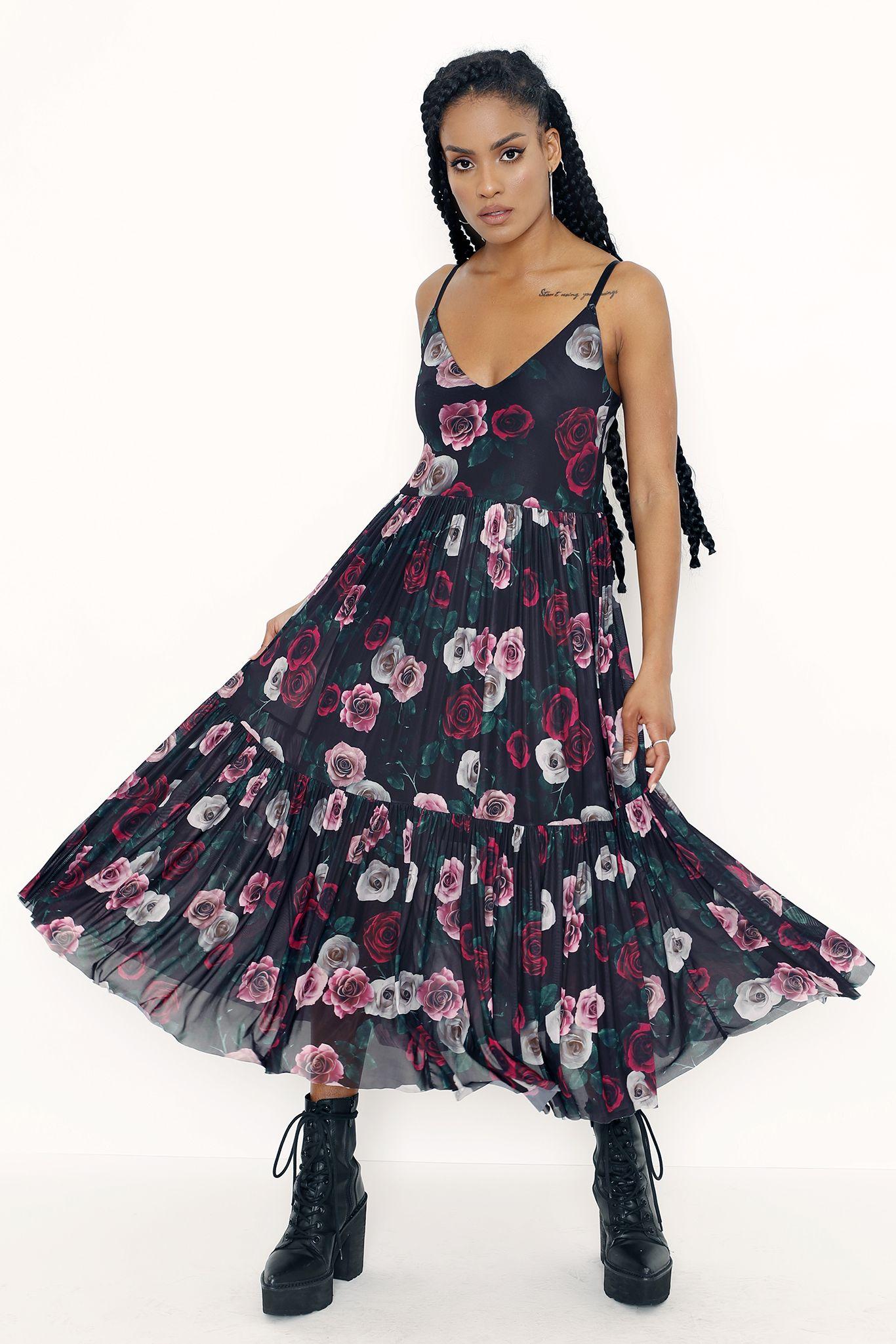 Dark Roses Sheer Midaxi Dress Limited In 2021 Dresses Black Milk Black Milk Clothing [ 2049 x 1366 Pixel ]