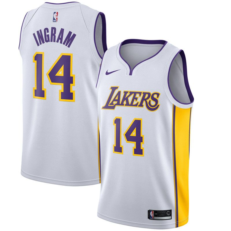 Brandon Ingram Los Angeles Lakers Nike Swingman Jersey White Association Edition Los Angeles Lakers Basketball Los Angeles Lakers Brandon Ingram