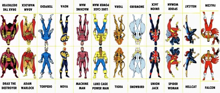 marvel comics names