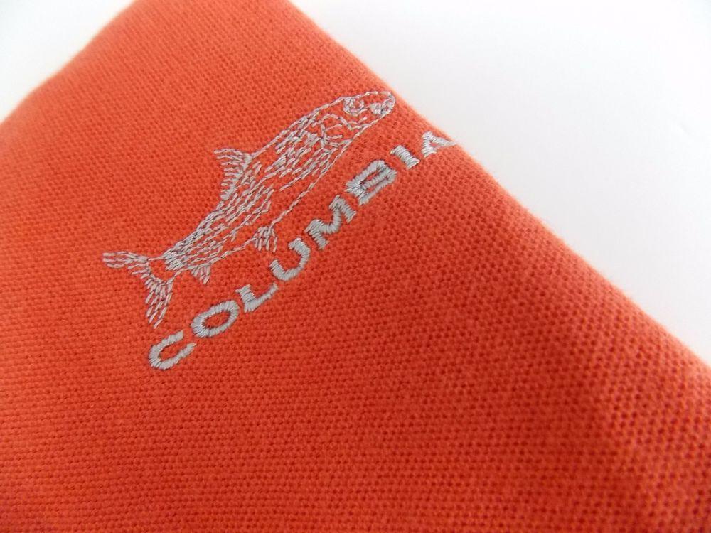 Columbia Men's Size 2XL XXL Polo Shirt Striped Short Sleeve Cotton Orange #Columbia #PoloRugby