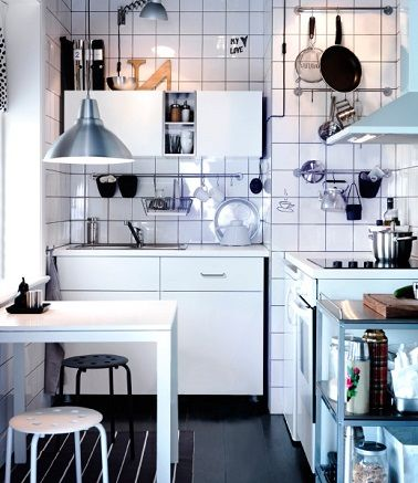 petite cuisine 10 am nagements d co gain de place credence pinterest dining room design. Black Bedroom Furniture Sets. Home Design Ideas