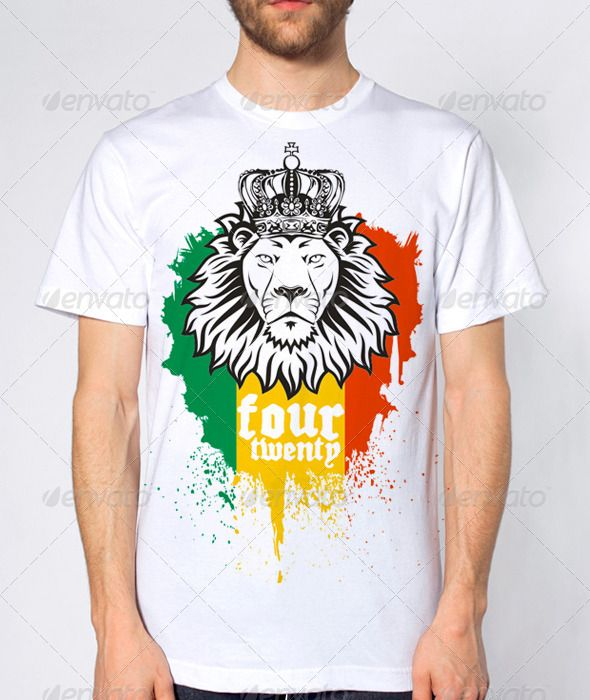 ea19a2c4 Rasta Lion Four Twenty 420 T-shirt design Template Vector EPS. Download  here: