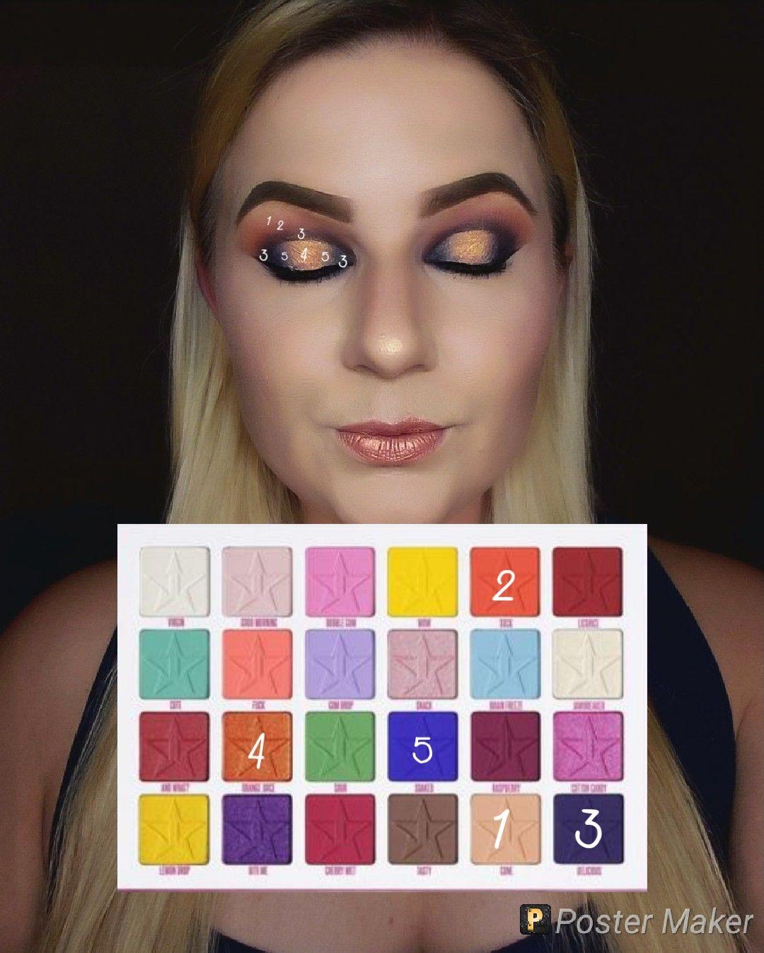 Look by numbers using the jawbreaker palette Beautiful